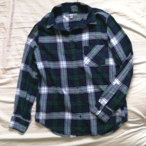 💙3/$25 Plaid Flannel Shirt Uniqlo